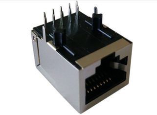 China Female PCB RJ45 Modular Jack / Lan RJ45 Network Connector Single Port Side Entry supplier