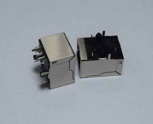 China Waterproof 100Base-T Modular Vertical RJ45 Connectors With Transformer Single Port supplier