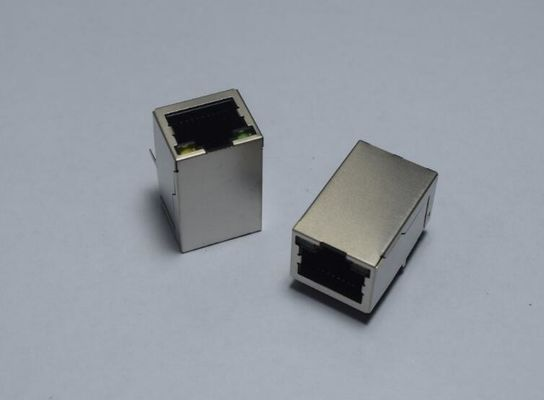 China Top Entry Vertical RJ45 Female Jack , RJ45 PCB Mount Connector For Hub / PC Cards supplier
