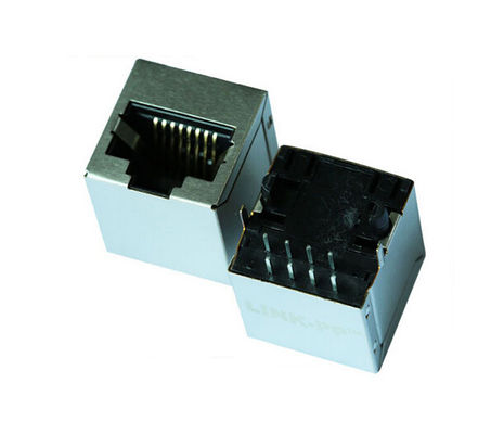China Ethernet Female RJ45 Vertical Connector , PCB Cat6 Shielded Rj45 Connectors supplier