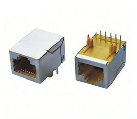China 8P8C RJ45 Magnetic Jack , Shielded Modular Rj45 Connectors With Shutter supplier
