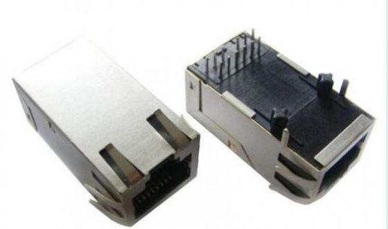 China Customized Single Port Rj45 Connector With Magnetics 10/100/1000 Base-TX supplier