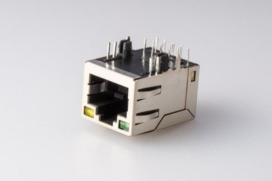 China Surface Mount RJ45 With Transformer Female PCb Jack 10 / 100Base - T Tab Up supplier