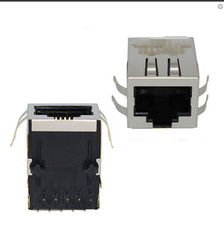 China Surface Mount Integrated RJ45 Female Jack , Cat5e Cable Female Ethernet Connector supplier
