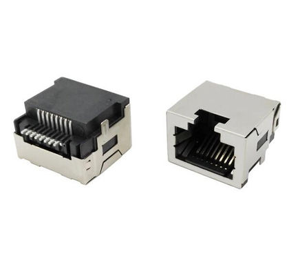China 8P8C Modular Rj45 Connectors / Rj 45 Network Jack For Networking Solutions factory