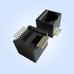 China SMT Modular Rj45 Connectors / Network Connector Rj45 Unshielded Without LEDs distributor