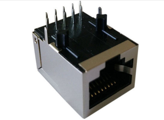 Female PCB RJ45 Modular Jack / Lan RJ45 Network Connector Single Port Side Entry