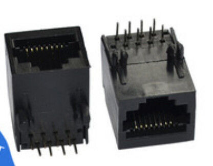 China 8 Pin Single Port RJ45 Female Jack , PCB Mount RJ45 Ethernet Connector Socket distributor