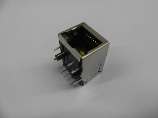 China CAT5 Female RJ45 With Transformer , RJ45 Modular Jack For J0011d01BNL / J00-0045NL factory