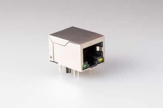 Surface Mount Network Magnetic RJ45 Jack , RJ45 Modular Plug Connector