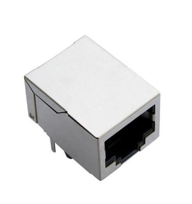China 8 Pin Integrated RJ45 Modular Connector , PCB RJ45 Connector Jack With Shield distributor
