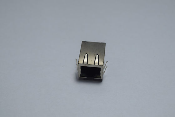 China Custom Magnetic 10 Pin RJ45 Connector , RJ45 Ethernet Modular Jack Low Frequency distributor